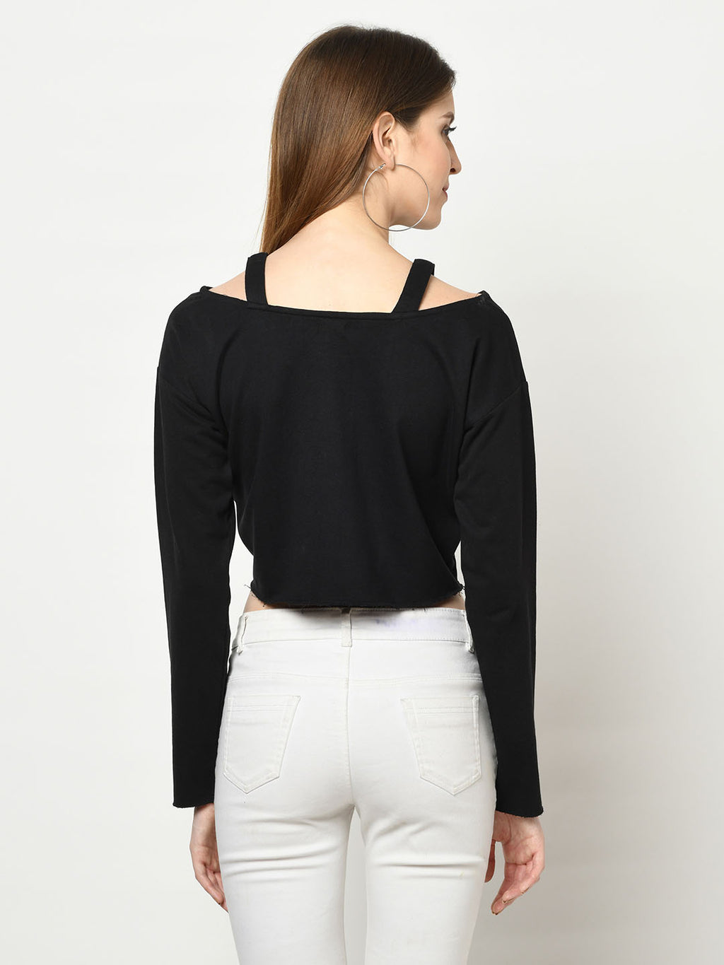 Perfect Black Cut-Out V-Neck