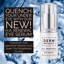 Load image into Gallery viewer, NEW! Derm Naturals H.A. Renewal Eye Serum