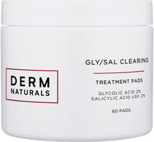 Load image into Gallery viewer, Derm Naturals Acne Clearing Pads with Gly/Sal 2/2