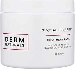 Derm Naturals Acne Clearing Pads with Gly/Sal 2/2