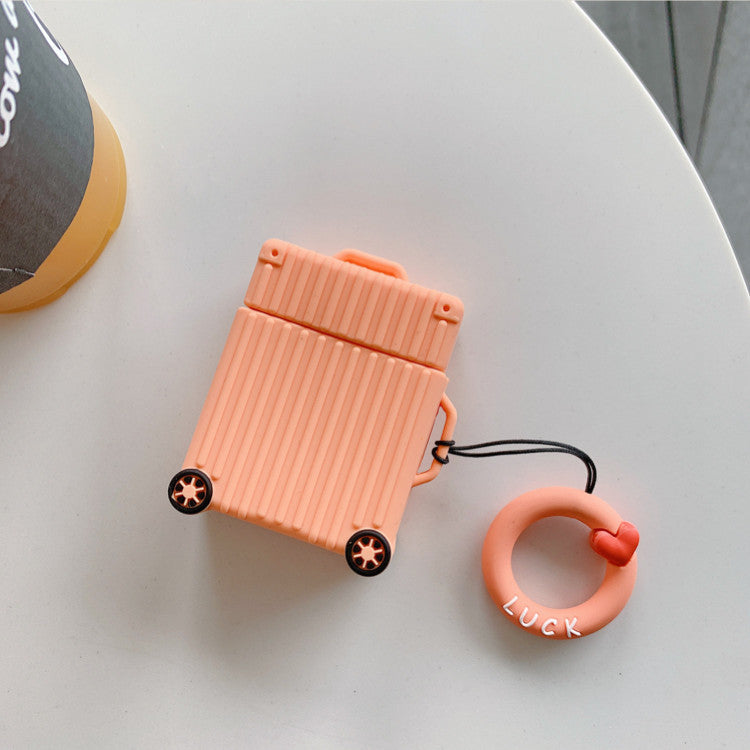 Silicone Suitcase Airpods Case