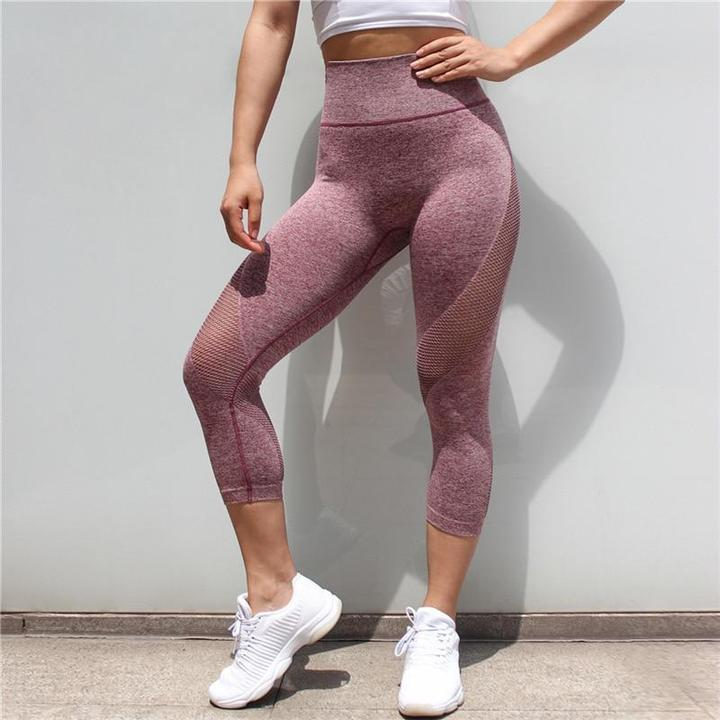 Tummy Control Mesh Push Up Leggings