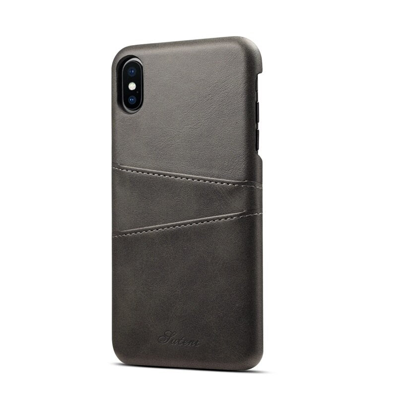 Leather Phone Cover with Card Pockets