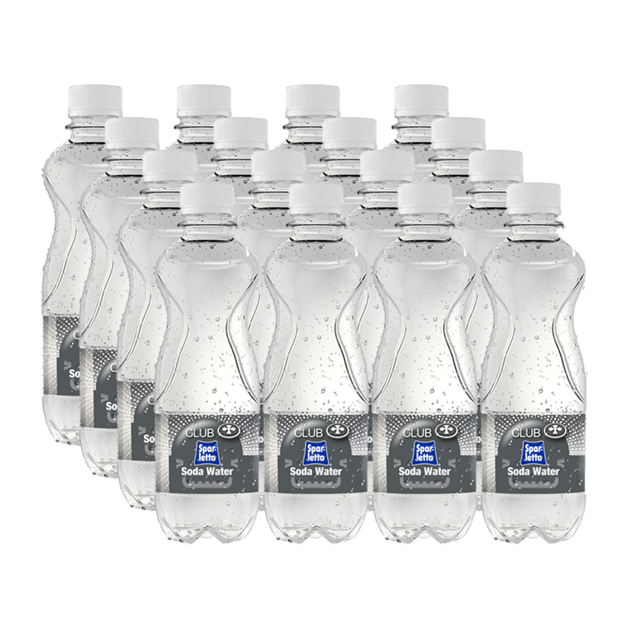 Club Sparletta Soda Water- 350ml PET (Pack of 16)