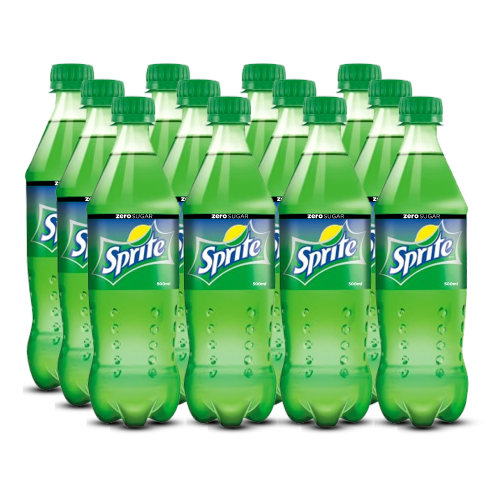 Sprite Zero Sugar - 500ml PET (Pack of 12)