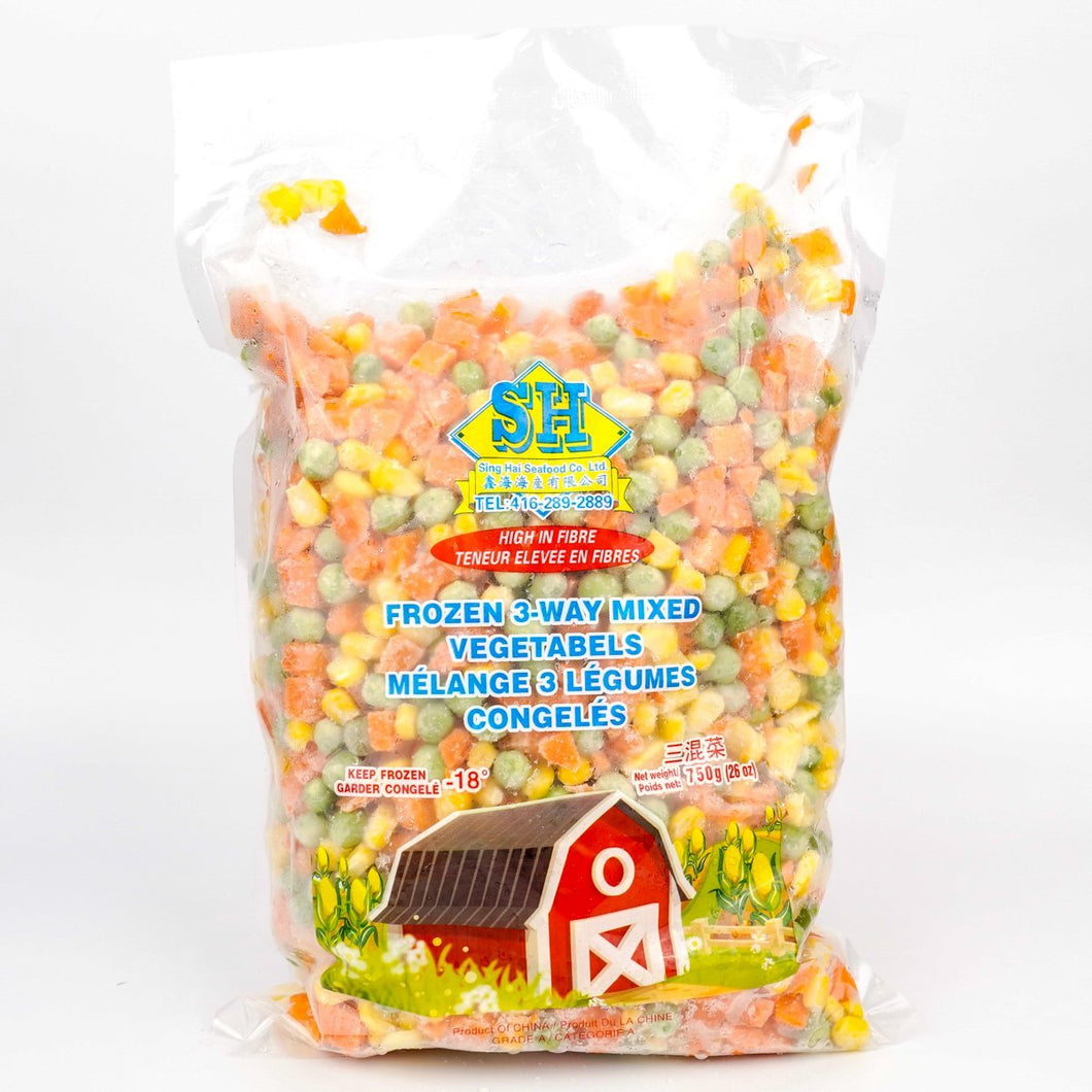 SH Frozen 3-way Mixed Vegetable