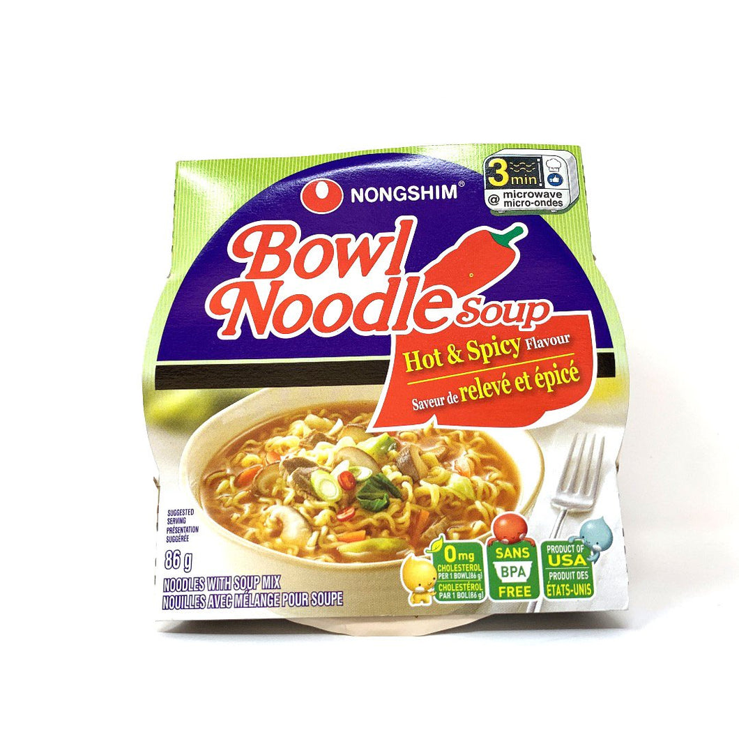 Nong Shim Hot Spicy Bowl Noodle