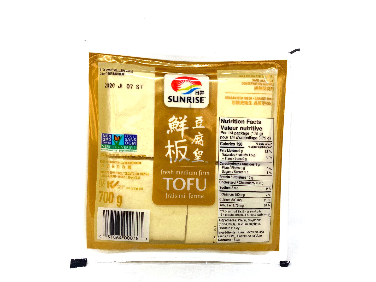 Sunrise Fresh Medium Firm Tofu