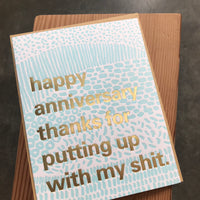 Anniversary - Putting up with me