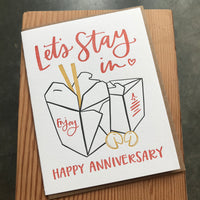 Anniversary - Let's Stay In