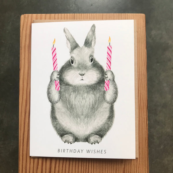 Birthday - Bunny with Candles
