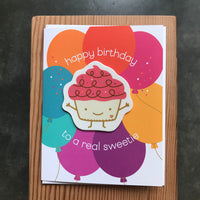 Birthday - Cupcake Sticker Card