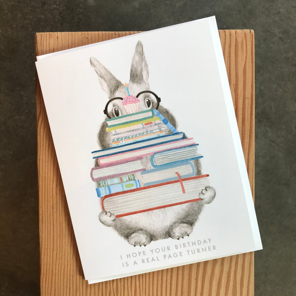 Birthday - Page Turner Bunny