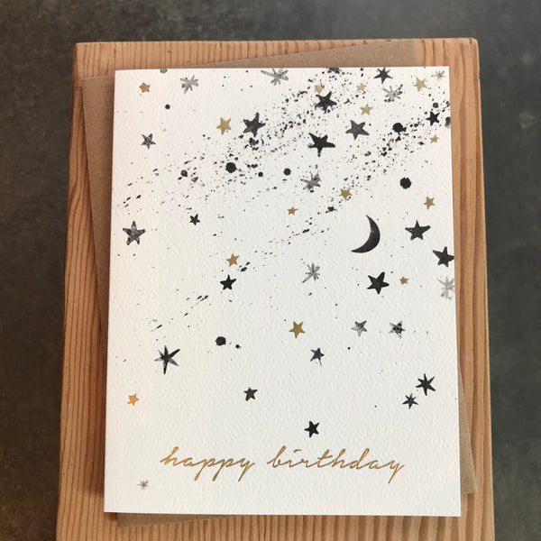 Birthday - Stars with Foil