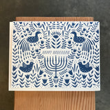 Hanukkah - Boxed Blue Scene