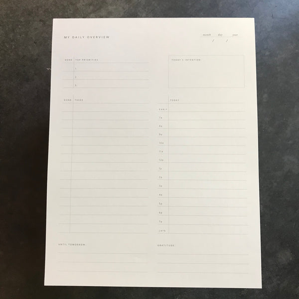 Daily Overview Notepad