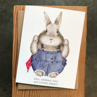 Father's Day - Overalls Bunny
