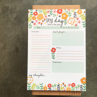 Floral Daily Planner Pad