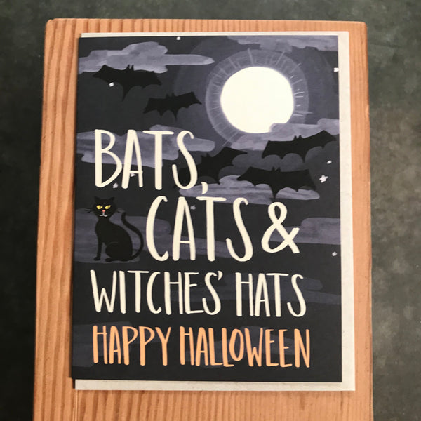 Halloween - Bats, Cats and Witches Hats