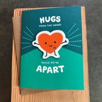 Friendship - Hugs from the Heart Sticker Card