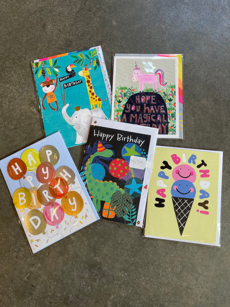 Kid's Birthday Card Collection