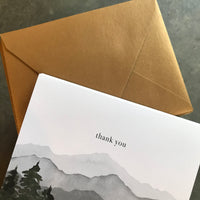 Mountains Thank You Notes