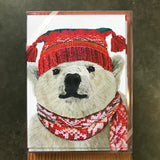 Polar Bear in Hat Boxed Cards