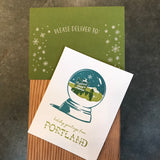 Portland Snow Globe Holiday Cards