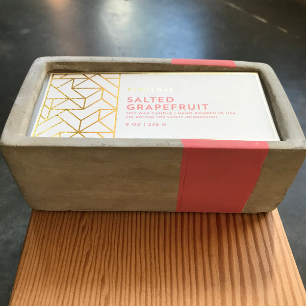 Rectangle Concrete Salted Grapefruit Candle