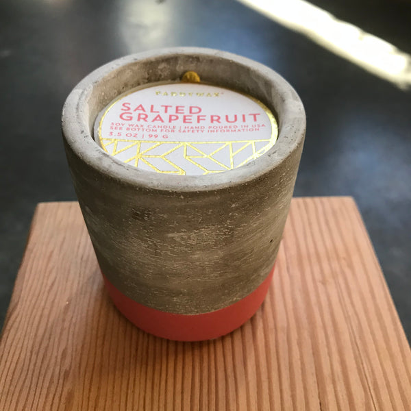 Small Concrete Salted Grapefruit Candle