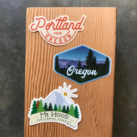 Portland and Oregon Vinyl Stickers