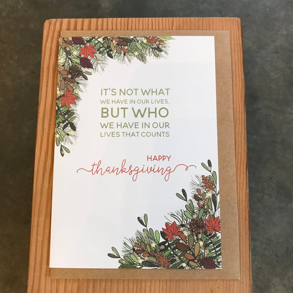 Thanksgiving - Who we have