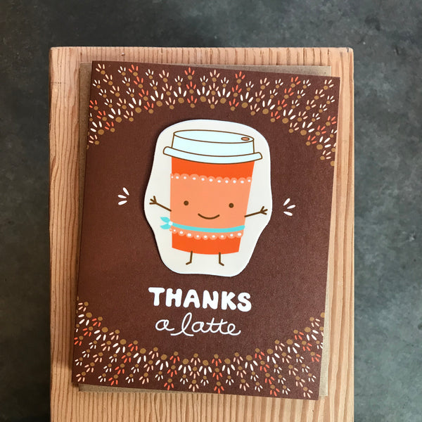 Thank You - Thanks a Latte Sticker Card