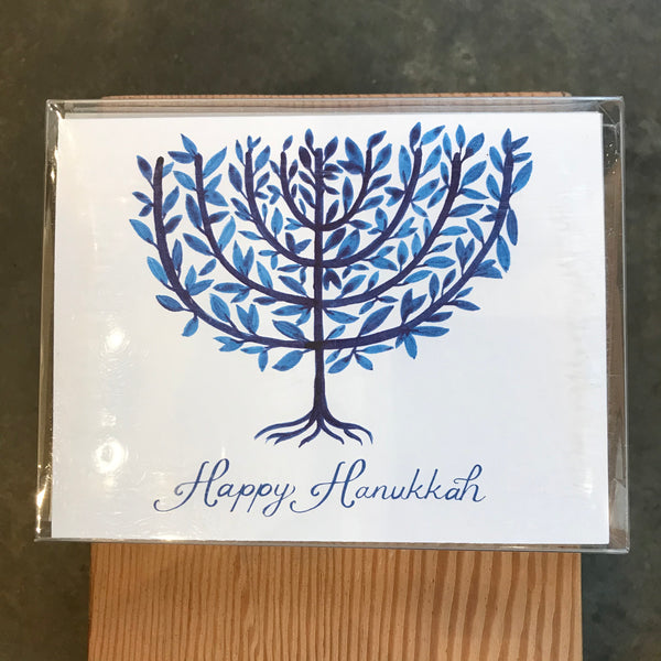 Hanukkah - Boxed Watercolor Menorah