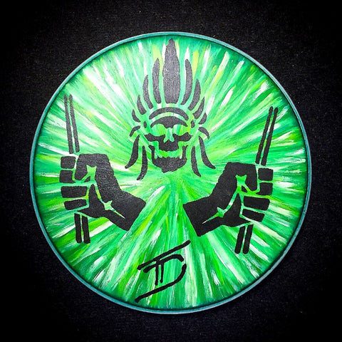Hand Painted Drum Head 004