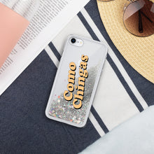 Load image into Gallery viewer, Como Chingas Liquid Glitter Phone Case