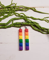 Lego Rainbow Earrings 1