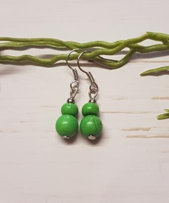 Green Small Bead Earring - 1