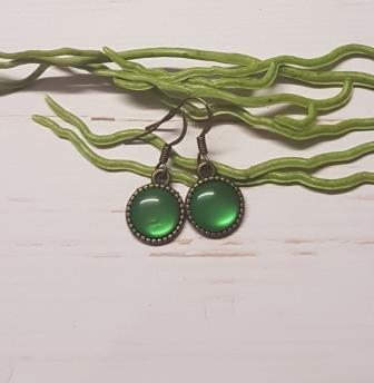 Green Cabochon Earring -2