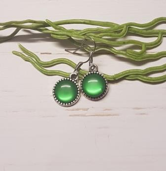 Green Cabochon Earring -1