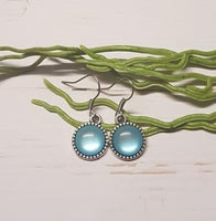 Light Blue Cabochon Earring -1