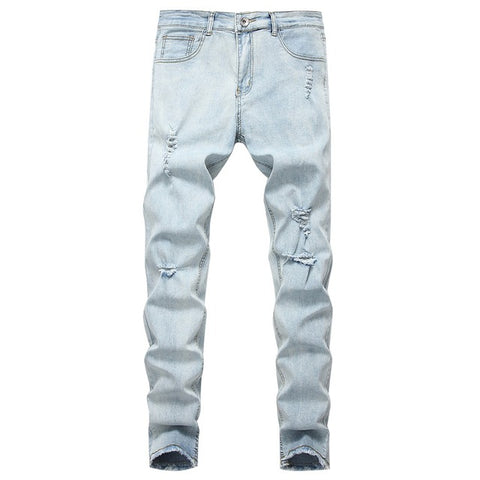 Blue Skinny Jeans Men Spring Summer Stretch Slim Jean Pants High Quality Men Cotton Casual Denim Jeans Long Jean Pants Size XXXL