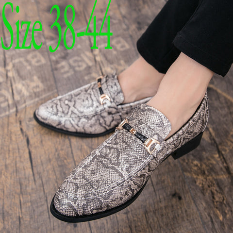 Luxury men's snake skin cool platform oxfords patent leather shoes male footwear wedding fashion famous designer brogue shoes