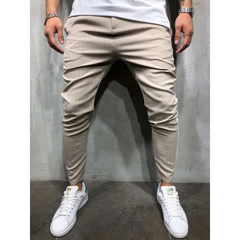 New Men's Fashion Joggers Pants Hip Hop Striped Urban Straight Casual Sweatpants Trousers Slim Fitness Long Harajuku Tracksuits