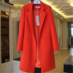 2018 Spring Autumn Blazers Women Small suit Plus size Long sleeve jacket Casual tops female Slim Wild Blazers Windbreaker coat