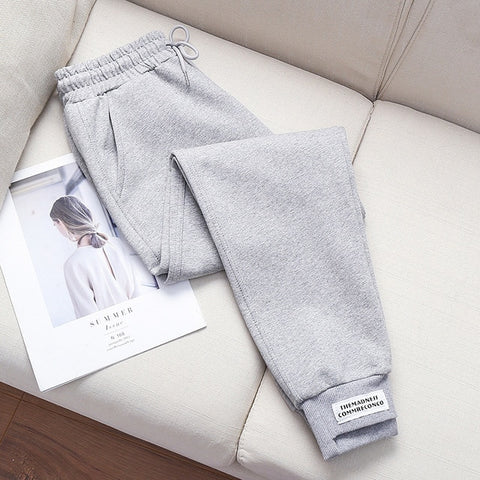 Pants women loose sweatpants casual Cotton trousers women pocket high waist thin autumn leisure wholesale vestidos WBX9913