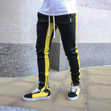 Brand Gyms Men Leg Zipper Solid Color Joggers Sweatpants Men's Joggers Trousers Sporting Clothing The High Quality Bodybuilding