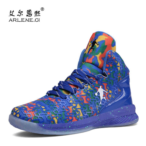 High-top Jordan Basketball Shoes Men Cushioning Outdoor Sneakers Breathable Sports Shoes Anti-Skid Basket Shoes Big Size 36-47