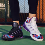 Men Women High Top Mix Color Couple's Male Sports Sneakers Mens Breathable Chaussure Pour Homme Professional Basketball Shoes