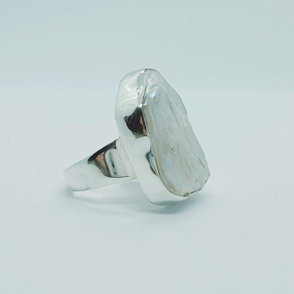 Pearl and Sterling Silver Ring #2